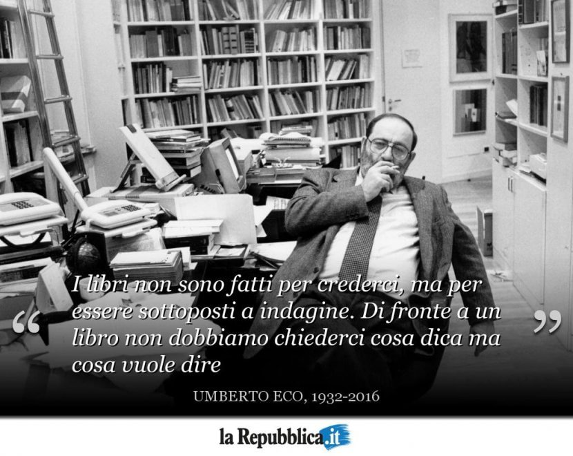 Considerazioni sulla morte di Umberto Eco. Cosa ci si aspetta oggi da un romanzo?